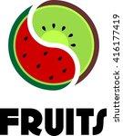 fruit logo template  | Shutterstock .eps vector #416177419