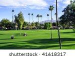 pretty view of golf course...   Shutterstock . vector #41618317