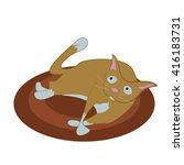 cartoon cat illustration | Shutterstock .eps vector #416183731