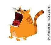 cartoon cat illustration | Shutterstock .eps vector #416183764