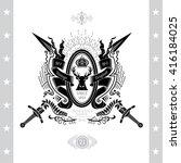 coat of arms from cross swords... | Shutterstock .eps vector #416184025
