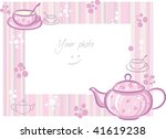 frame for photo with pink... | Shutterstock .eps vector #41619238