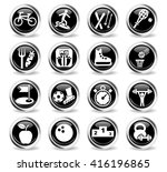 sport web icons for user... | Shutterstock .eps vector #416196865