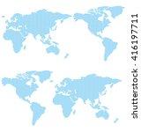 world map of dots vector   Shutterstock .eps vector #416197711