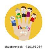 Family Day Round Logo. Family...