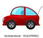 cartoon car isolated on white... | Shutterstock .eps vector #416199061