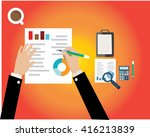 business workflow items and... | Shutterstock .eps vector #416213839