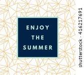 summer hipster boho chic... | Shutterstock .eps vector #416217691