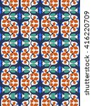 classic pattern on white... | Shutterstock .eps vector #416220709