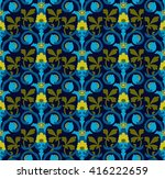 calm dark seamless pattern in... | Shutterstock .eps vector #416222659