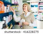 positive smiling mature female... | Shutterstock . vector #416228275