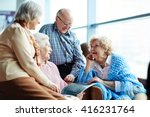 group of senior friends chatting | Shutterstock . vector #416231764