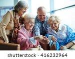 group of senior friends... | Shutterstock . vector #416232964