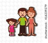 family members design  | Shutterstock .eps vector #416239279