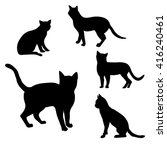 cat silhouette   illustration ... | Shutterstock .eps vector #416240461