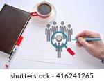 talent acquisition. hr.... | Shutterstock . vector #416241265