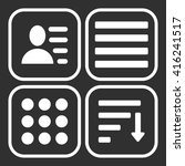 hamburger menu icons set.... | Shutterstock .eps vector #416241517
