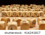 migraine word written on wood... | Shutterstock . vector #416241817