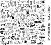 ampersands and catchwords.... | Shutterstock .eps vector #416245534