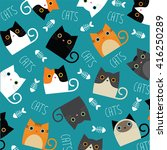 set of vector cats depicting...