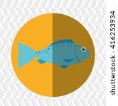 seafood dinner design  | Shutterstock .eps vector #416253934