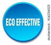 eco effective blue round flat... | Shutterstock .eps vector #416256025