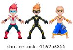 avatar young superheroes and...   Shutterstock .eps vector #416256355