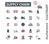 supply chain icons  | Shutterstock .eps vector #416258689
