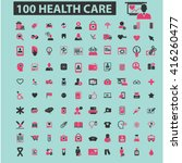 health care icons  | Shutterstock .eps vector #416260477
