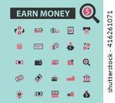 earn money icons  | Shutterstock .eps vector #416261071