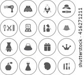 fashion icon set | Shutterstock .eps vector #416271211
