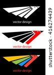 abstract logo design. flat logo ... | Shutterstock .eps vector #416274439