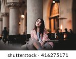 beautiful asian girl model in... | Shutterstock . vector #416275171