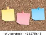 cork board vector  | Shutterstock .eps vector #416275645