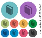 color book flat icon set on...