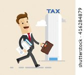 businessman  tax office. man... | Shutterstock .eps vector #416284879