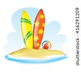 summer   vacation realistic... | Shutterstock .eps vector #416291209