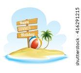 summer   vacation realistic... | Shutterstock .eps vector #416291215