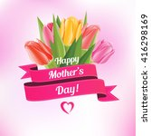 mother's day vector card with... | Shutterstock .eps vector #416298169