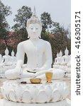 Small photo of Statues 84 Lord Buddha, Temple- Wat Bung Khi Lek at Khemarat Ubon Ratchathani Thailand.