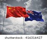 3d illustration of china  ... | Shutterstock . vector #416316427