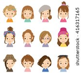 characters of cute comic style  | Shutterstock . vector #416317165