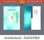 cover and page of the annual... | Shutterstock .eps vector #416319364