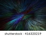 colourful stripe line zoom in... | Shutterstock . vector #416320219