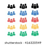 people group icon. man icon.  | Shutterstock .eps vector #416320549
