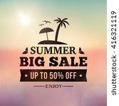 summer big sale business... | Shutterstock .eps vector #416321119