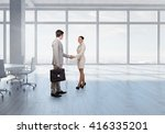 business partners handshake | Shutterstock . vector #416335201