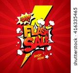 flash sale banner template... | Shutterstock .eps vector #416335465