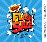 flash sale banner template... | Shutterstock .eps vector #416335507