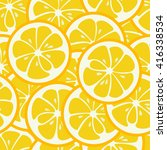 cute seamless pattern with... | Shutterstock . vector #416338534